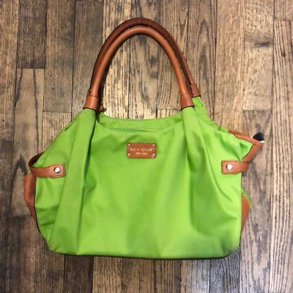 kate spade Handbags - Kate Spade Green and brown shoulder bag